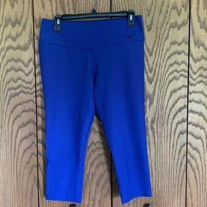 Purple Nike Cropped Compression Legging